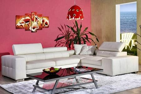 canap s cuir et salons italiens. Black Bedroom Furniture Sets. Home Design Ideas